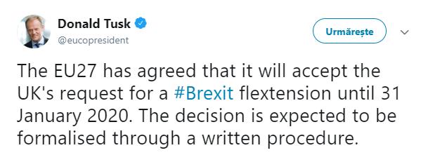 Brexitul amânat din nou! 31 ianuarie 2020, o nouă dată-limită