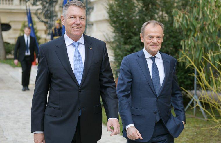 Tusk confirmă: Iohannis putea să ajungă președintele Consiliului European
