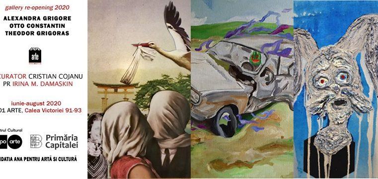 Galeria 1001 ARTE se redeschide cu proiectul expozițional3A2G4N – 3 tineri artiști pe Calea Victoriei