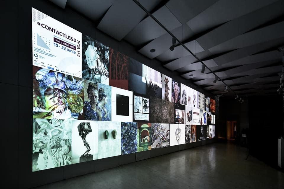 Expoziția Contactless Art Wall, într-un set-up special la Galateca