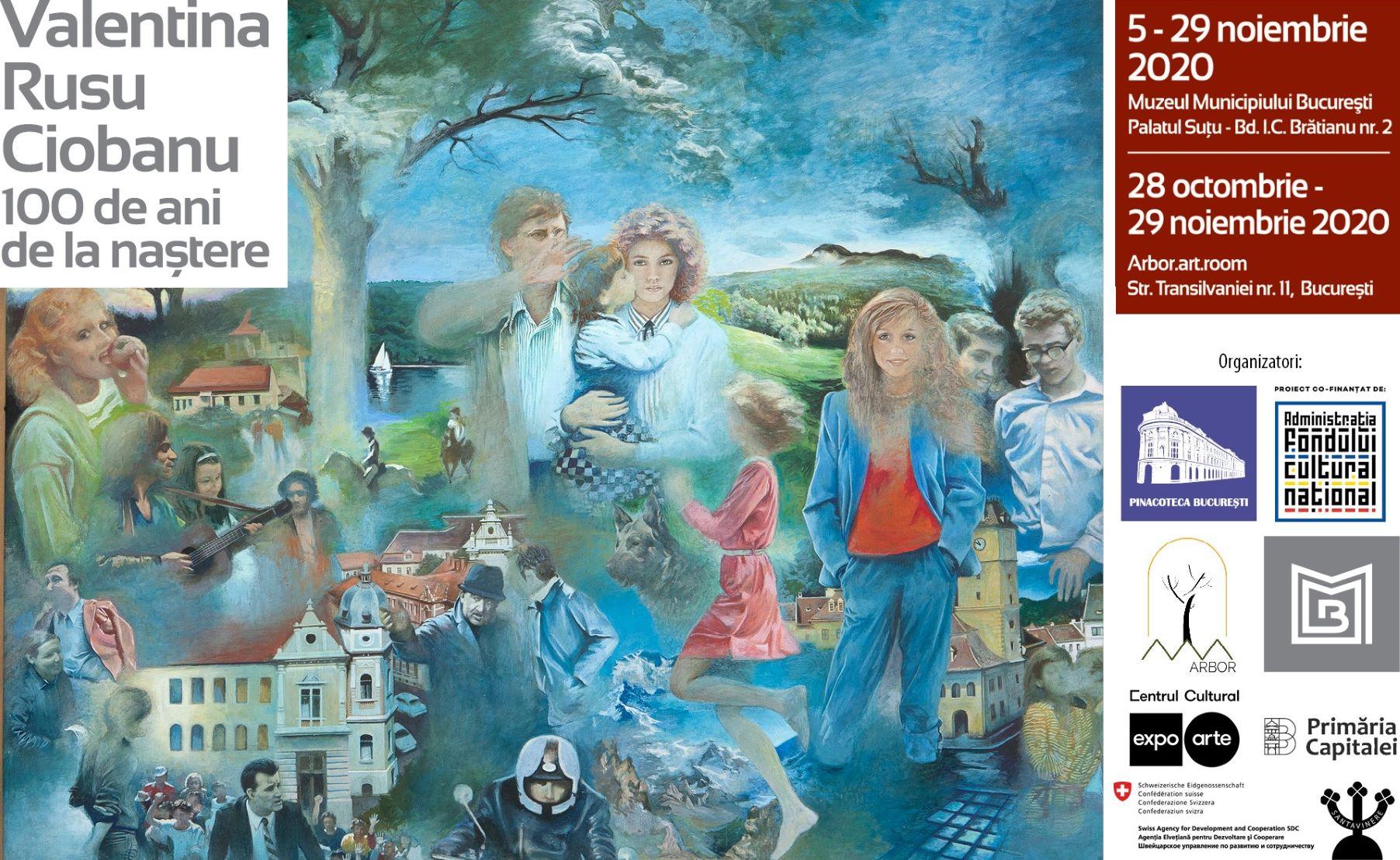 Primele expoziții personale ale pictoriței Valentina Rusu Ciobanu în România