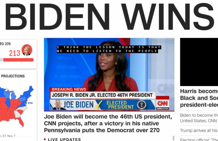 Breaking News. CNN: Joe Biden, ales președinte al SUA