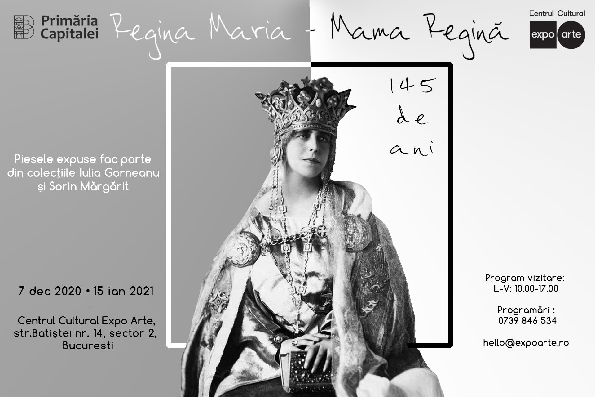 ExpozițiaRegina Maria – Mama Regină, la Centrul Cultural Expo Arte