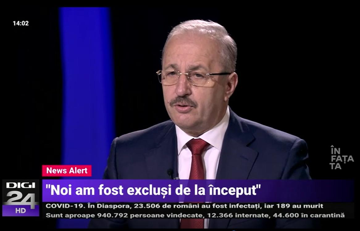 Dîncu: Dacă Iohannis reevaluează PSD, nu vom intra la guvernare pe ușa din dos! (Video)